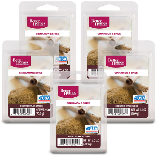 Better Homes and Gardens Wax Cubes, Cinnamon Spice, 5-Pack
