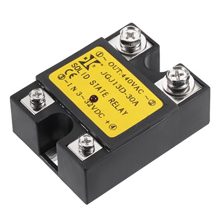 30a Single - JGJ13D DC 3-32V to  440V 30A Single Phase Solid State Relay Module DC to