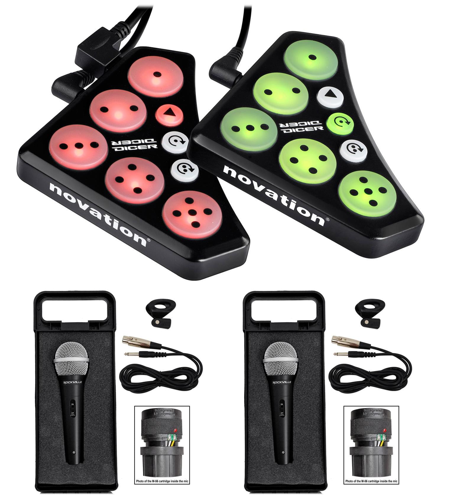 Novation DICER USB Digital Cue Point Serato Traktor MIDI DJ Controller+(2) Mics by NOVATION