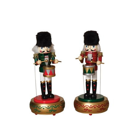 Windup Musical Moving Nutcrackers Christmas Collectible Figurines Decor Set