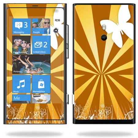 Mightyskins Protective Vinyl Skin Decal Cover for Nokia Lumia 800 4G Windows Phone Cell Phone wrap sticker skins Brown