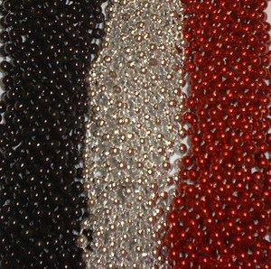 72 Red Silver Black Mardi Gras Gra Beads Necklaces Party Favors 6 Doz Lot Pirate by