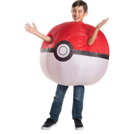 Pokemon Childrens Inflatable Poke Ball Costume