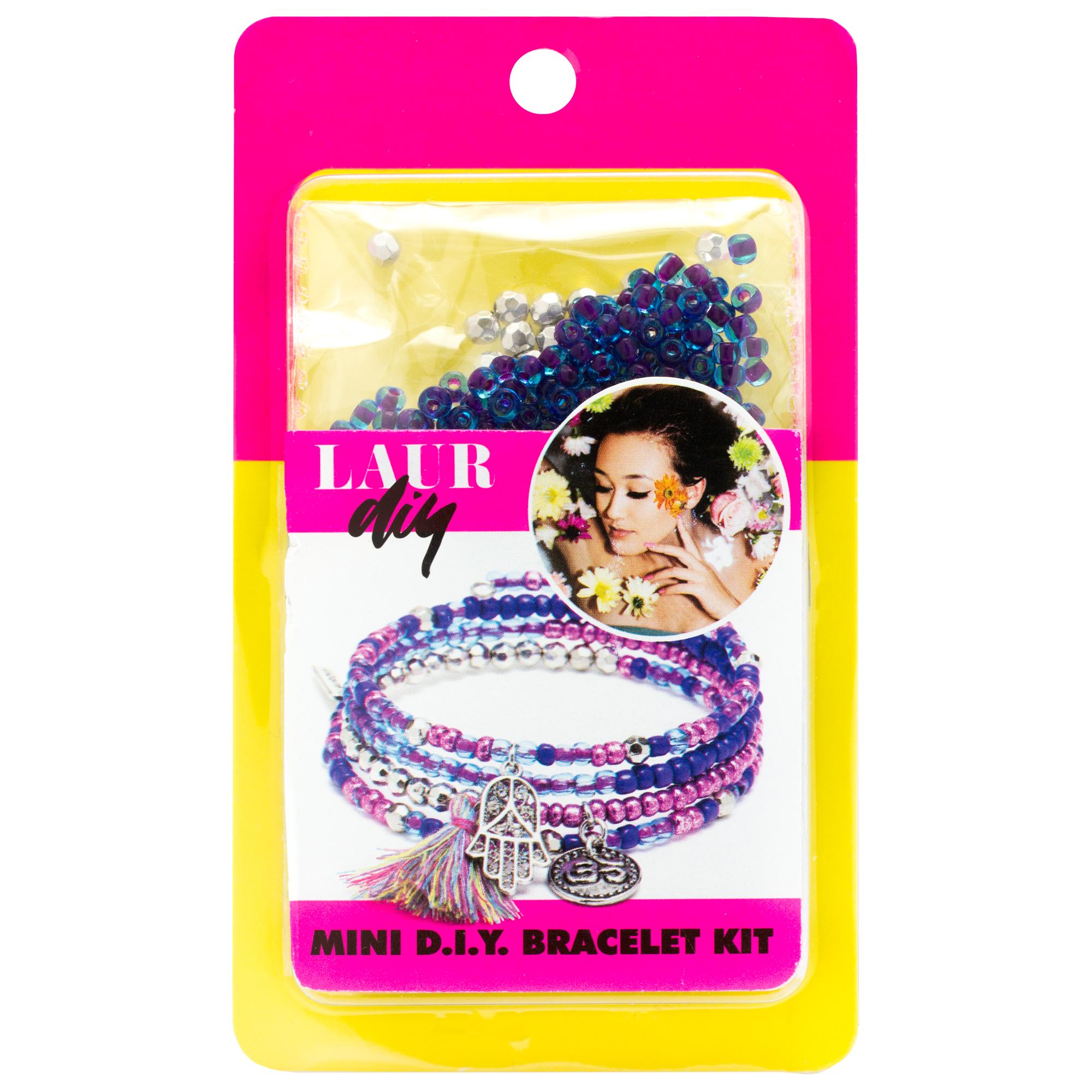 LaurDIY Blue Purple Wire Bracelet Mini DIY Kit