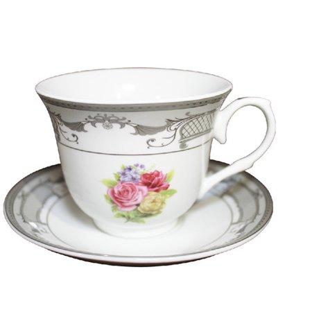 Imperial Gift Co. Tea Cup and Saucer (Set of 6) - Tea Cup Display
