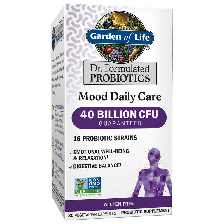 Garden of Life Dr. Formulated Mood Probiotic Capsules, 40 Billion CFU, 30 Ct
