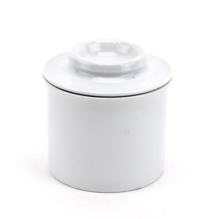 Stoneware Butter Keeper (Stoneware Butter Keeper, French Style European Butter Keeper Crock - White)