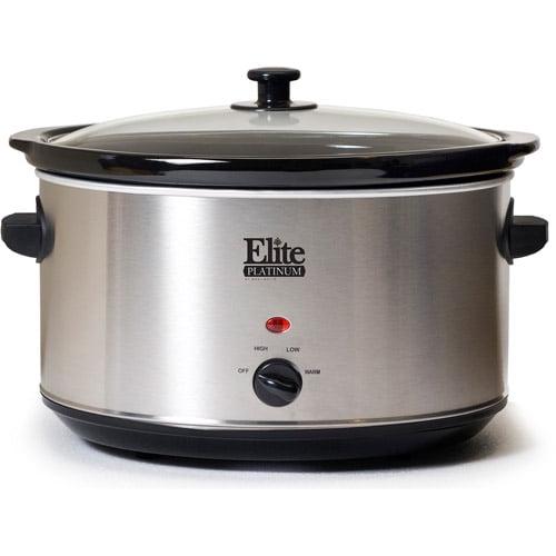 Elite Platinum 8.5-Quart Stainless Steel Slow Cooker