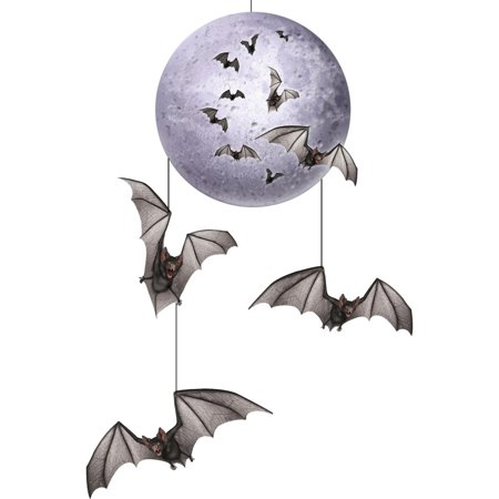 Club Pack of 12 Spooky Halloween Flying Bat Hanging Mobile Party Decorations 30
