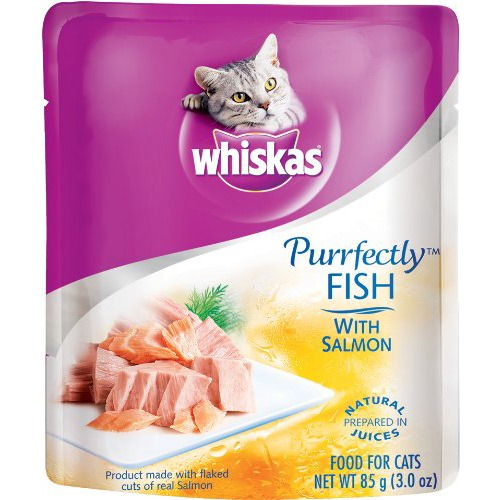 Whiskas PURRFECTLY Fish With Salmon
