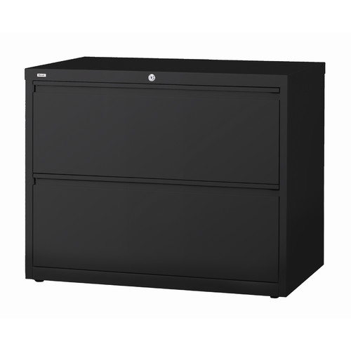 Exceptionnel HL10000 Series 30 Inch Wide 2 Drawer Lateral File Cabinet, Black