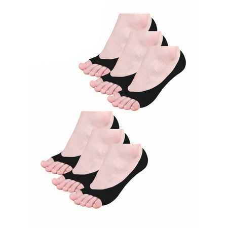 Unique Bargains No-show Hidden Ankle Toeless Socks 6-Pack (Women's& Junior)