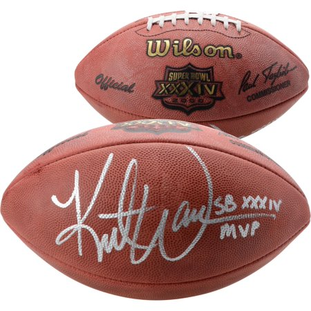 Kurt Warner St. Louis Rams Autographed Super Bowl XXXIV Football with