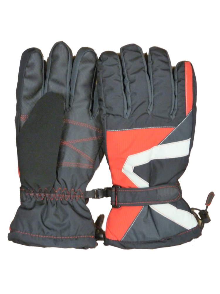 Igloos Men/'s Taslon Waterproof Colorblocked Ski Glove Insulated for Cold Outdoor Winter Weather