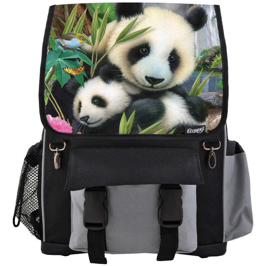 Kidaroo High Quality Precious Pandas School Backpack For Boys, Girls and Kids, Multiple Colors Available by Kidaroo