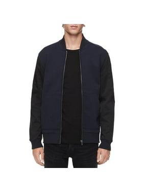 Calvin Klein Men's Fall Ribbed Trim Bomber Jacket In Sky Captain Combo, L