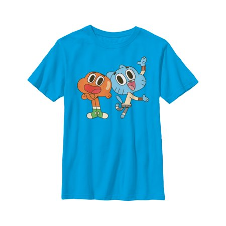 The Amazing World of Gumball Boys' Darwin and Gumball Grin T-Shirt