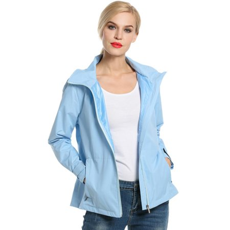 Garneau Cycling Jacket (Women Hooded Zip-Up Solid Jacket Outdoor Cycling Running Sport Lightweight Jacket)