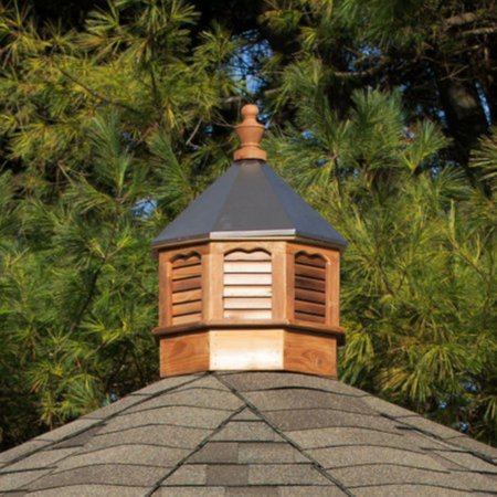 - YardCraft Octagon Cedar Cupola with Bronze Metal Roof