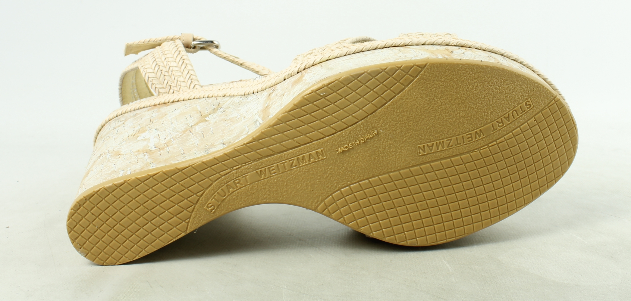 Stuart Weitzman Womens  IvoryLaniard Ankle Strap Heels Size 10.5 New