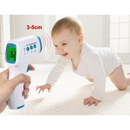 Digital Forehead Thermometer Non-contact Infrared Temperature Measurement with Color Backlight for Kids Children and Adults - image 6 de 7