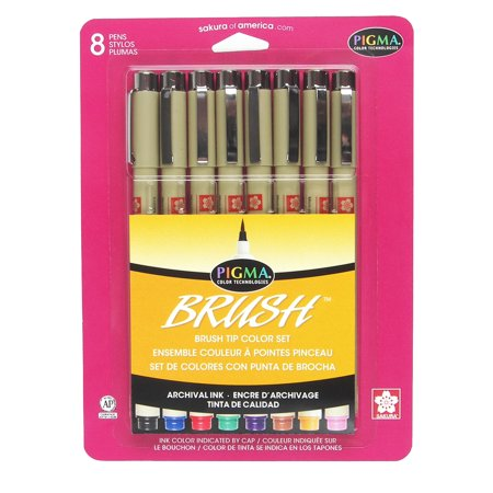 Sakura Pigma Brush Pen Set, 8-Pens](Brush Pen Set)