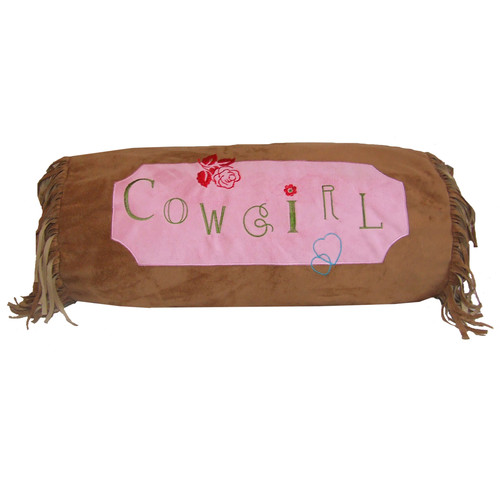 Zoomie Kids Jerald Cowgirl Bolster Pillow