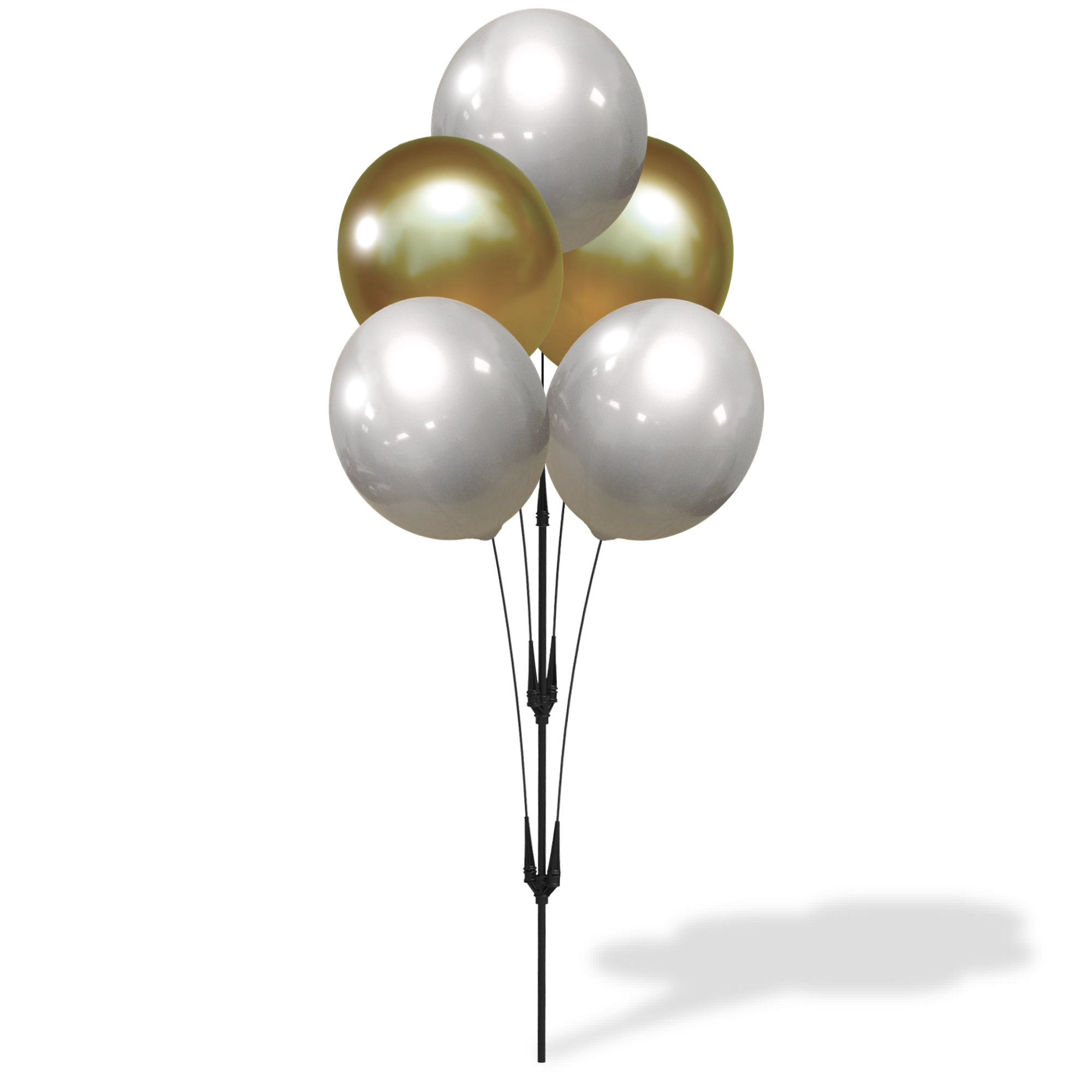 Weatherproof Reusable Seamed Balloon Cluster Pole Kit - Helium Free
