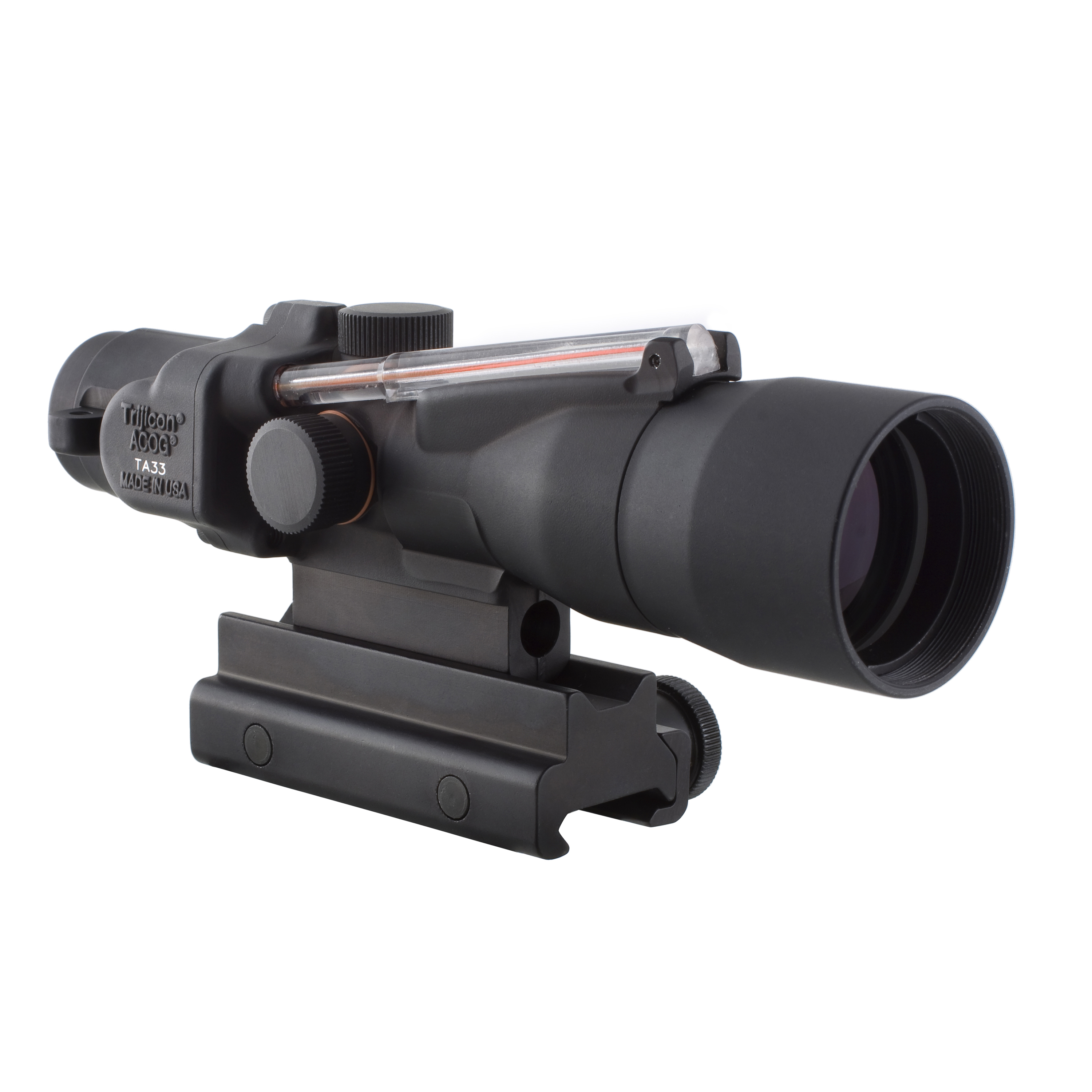 Trijicon ACOG 3x30mm Compact Dual Illuminated Scope Red Crosshair .300 Blackout 115 220gr Ball Reticle, Colt Knob... by Trijicon
