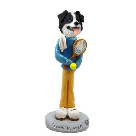 No.Doog6226 Border Collie Tennis Player Doogie Collectable Figurine ()