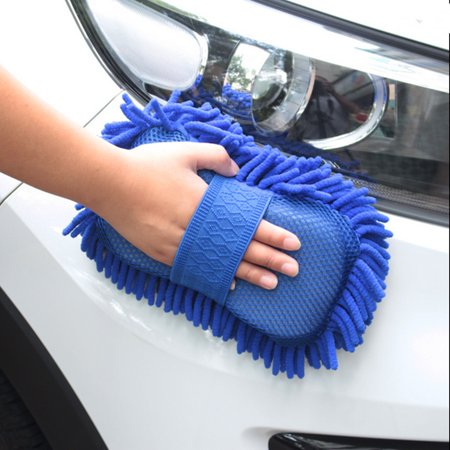 Microfibre Chenille Cleaning Supplies Coral Car Wash Gloves Car Cleaning Sponges Car Washer Supplies Dark Blue/Rose