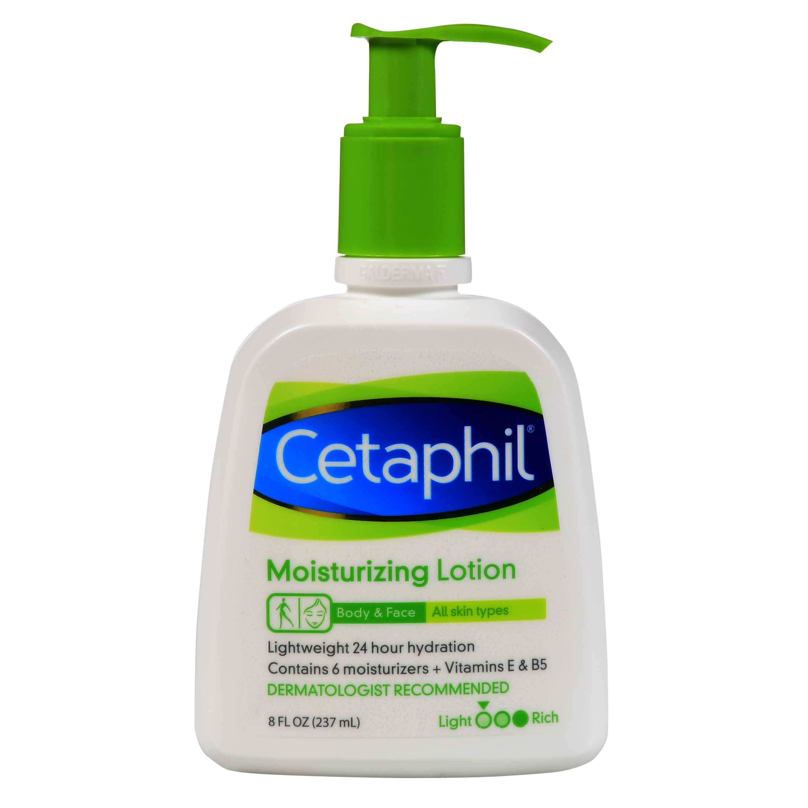 Cetaphil Moisturizing Lotion - Body & Face - For All Skin Types - Net Wt. 8 FL OZ (237 mL) Per Bottle - One (1) Bottle
