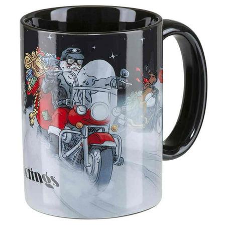 Harley-Davidson Winter 2018 Biker Santa Coffee Mug, 15 oz. - Black HDX-98613, Harley Davidson