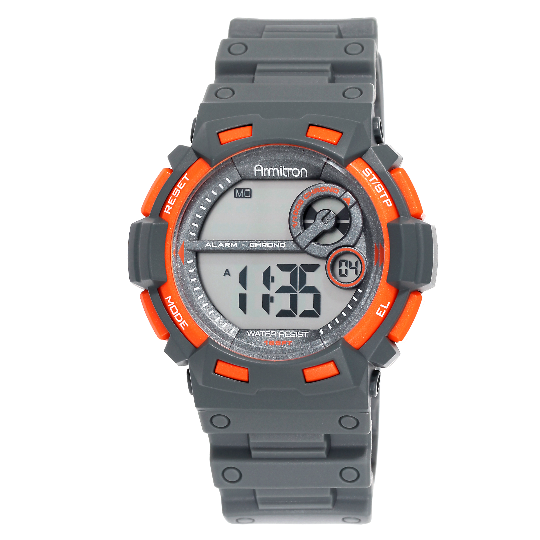 Armitron Men's Sport Orange Round Watch