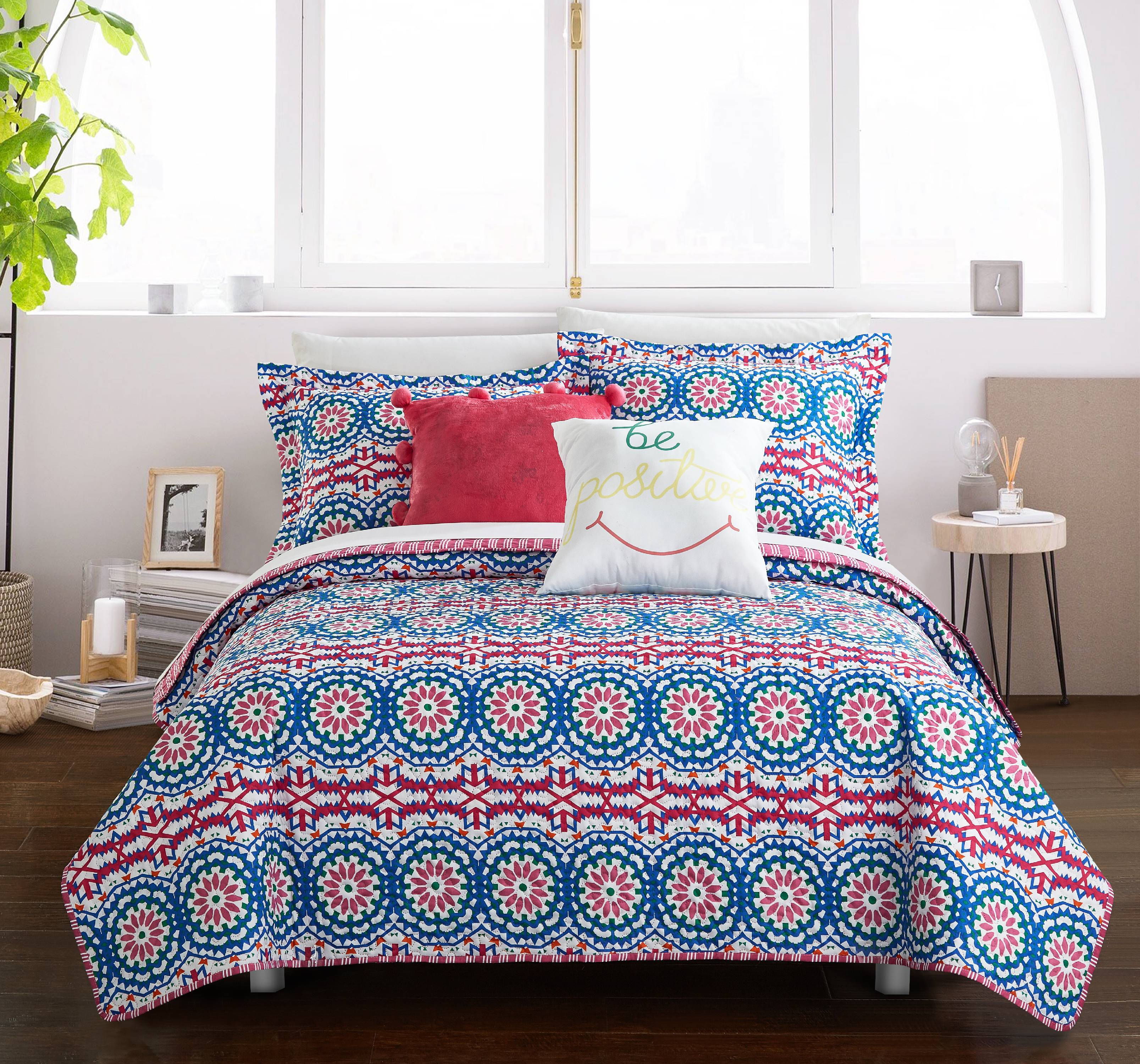 Chic Home Sachio 5 Piece Reversible Quilt Cover Set