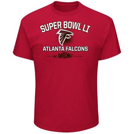 Atlanta Falcons Majestic Super Bowl Destination Mens Nfl T Shirt
