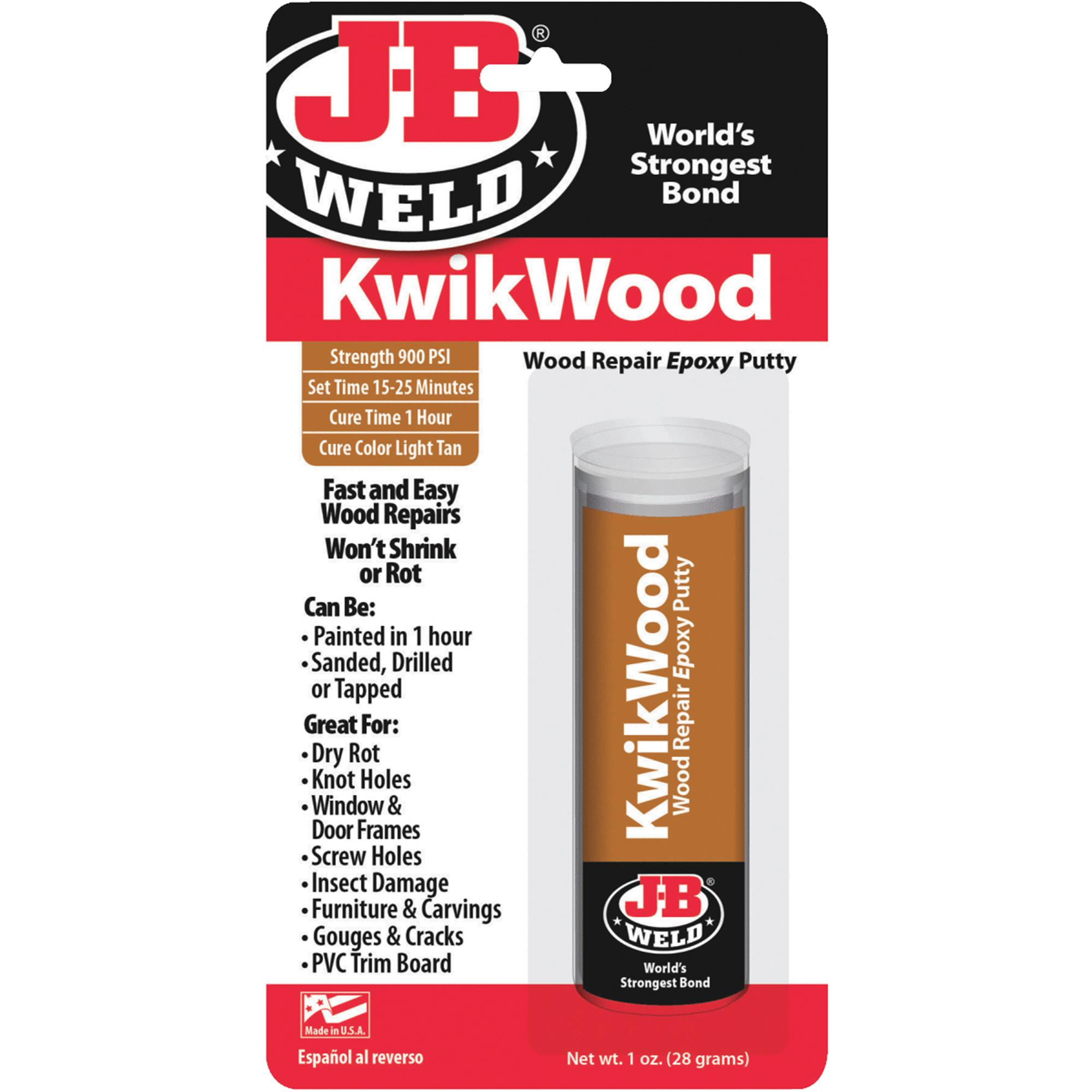 J-B WELD 8257 1 oz. Kwikwood Epoxy Putty Stick