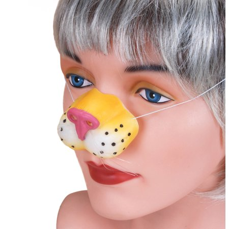 Star Power Animal Costume Accessory Tiger Nose, Yellow White Pink, One-Size - Costume Animal Noses