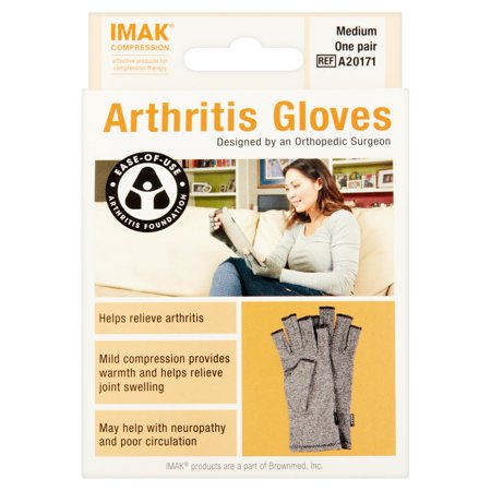 Imak Compression Medium Arthritis Gloves One Pair Walmart Com