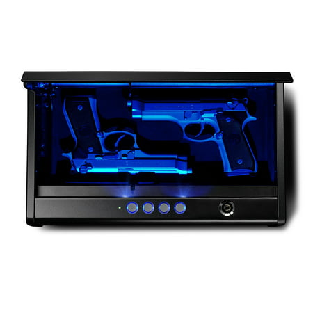 SentrySafe Pistol Safe Quick Access Electronic Keypad Gun Safe - Two Pistol Capacity with LED Interior Lights
