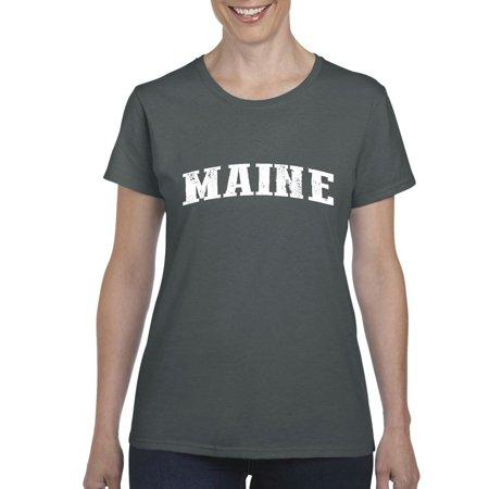 Maine T Shirt Me Home University Of Maine Black Bears  Womens Shirts