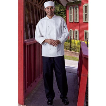 Threads 0426-2505 Extra Large Classic With Mesh Chef Coat in White Classic Mens Chef Coat