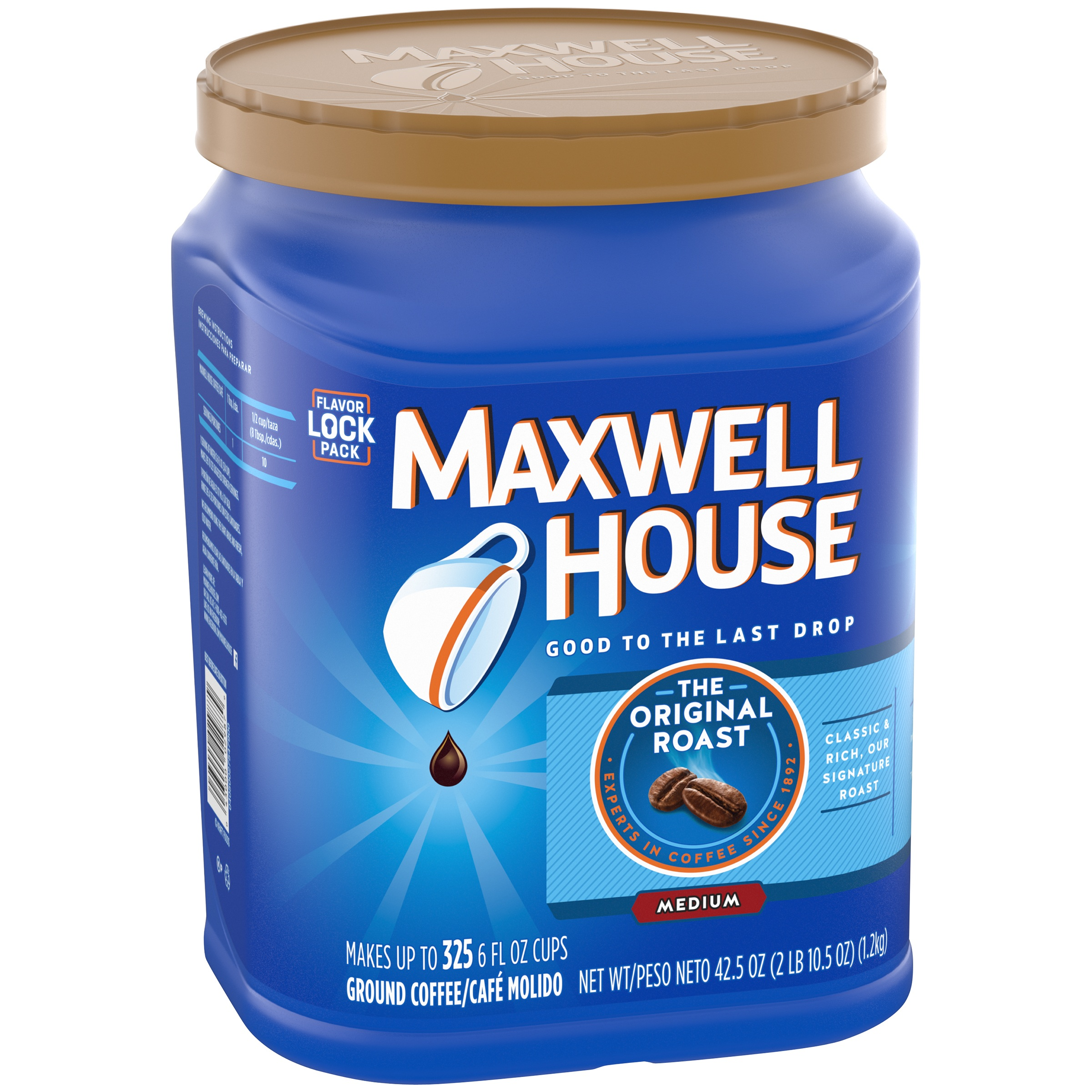 Maxwell House Original Roast Ground Coffee 42.5 oz. Canister