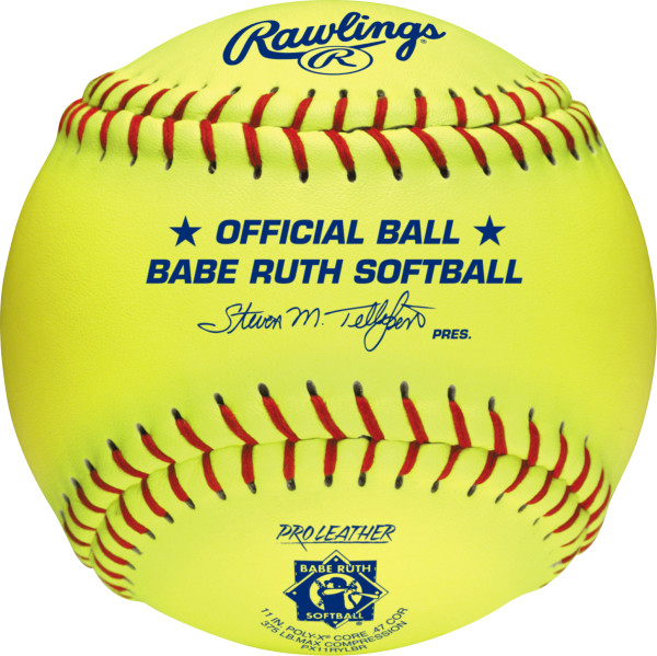 RAWLINGS PX11RYLBR Official Babe Ruth Softball 1 DOZEN by Rawlings