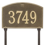 Personalized Whitehall Products Cape Charles 1-Line Standard Lawn Plaque in Antique Brass