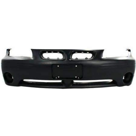 Replacement Top Deal Front Black Bumper Cover For 97-03 Pontiac Grand (Pontiac Bumper Cover)
