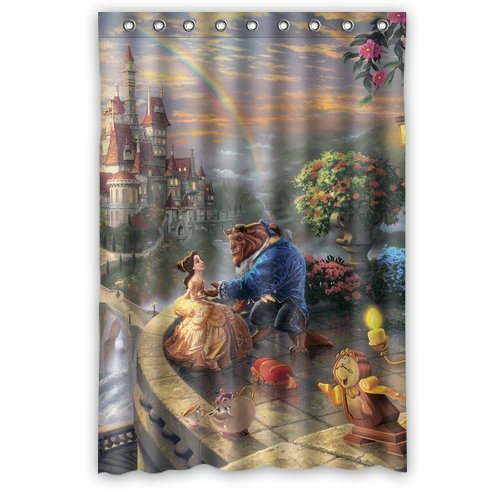 Ganma Beauty And The Beast Shower Curtain Polyester Fabric Bathroom 48x72 Inches