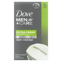 Dove Men+Care Body and Face Bar Extra Fresh 3.75 oz, 6 Bar