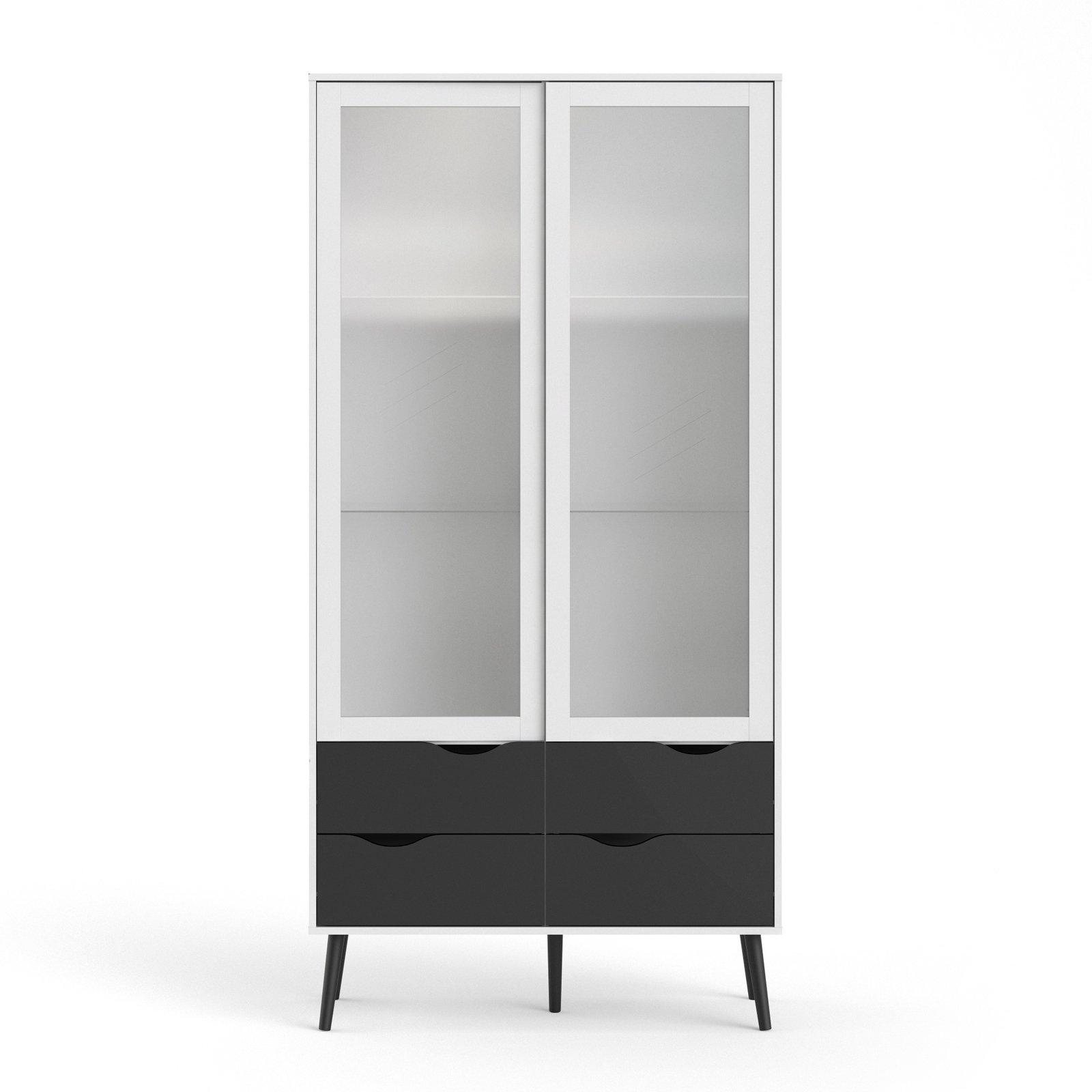 Tvilum Diana 4 Drawer China Cabinet with Glass Doors by Tvilum