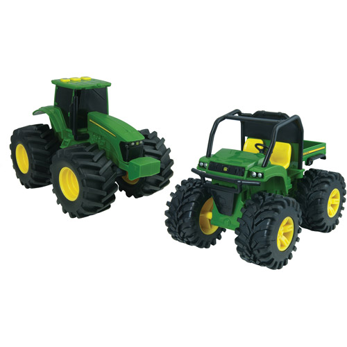"""John Deere Monster Treads 6"""" Lights and Sounds Gator and Tractor Play Set"""
